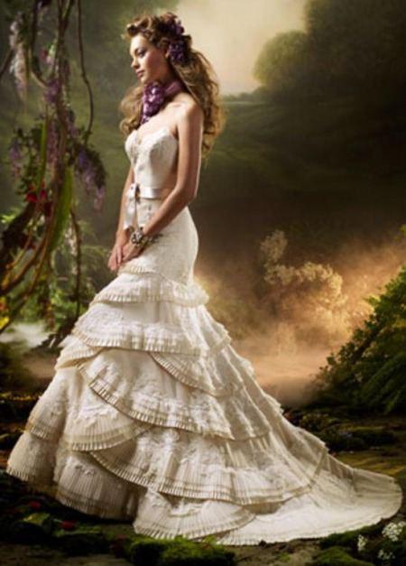 Дорогие свадебные платья 2012