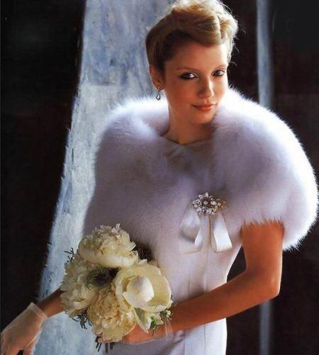 Накидка на свадебное платье бу
