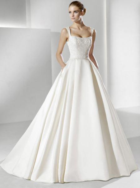 Классическое свадебное платье фото