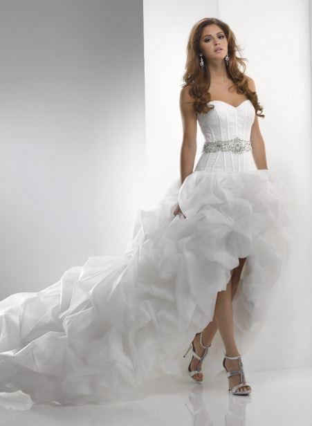 Свадебные платья с открытыми ногами