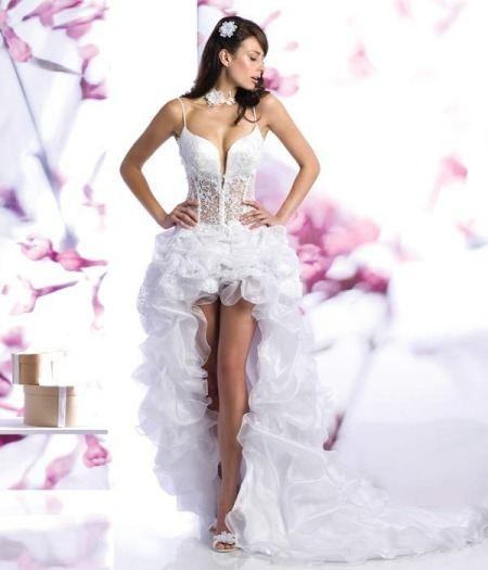 Свадебные платья с прозрачным корсетом.